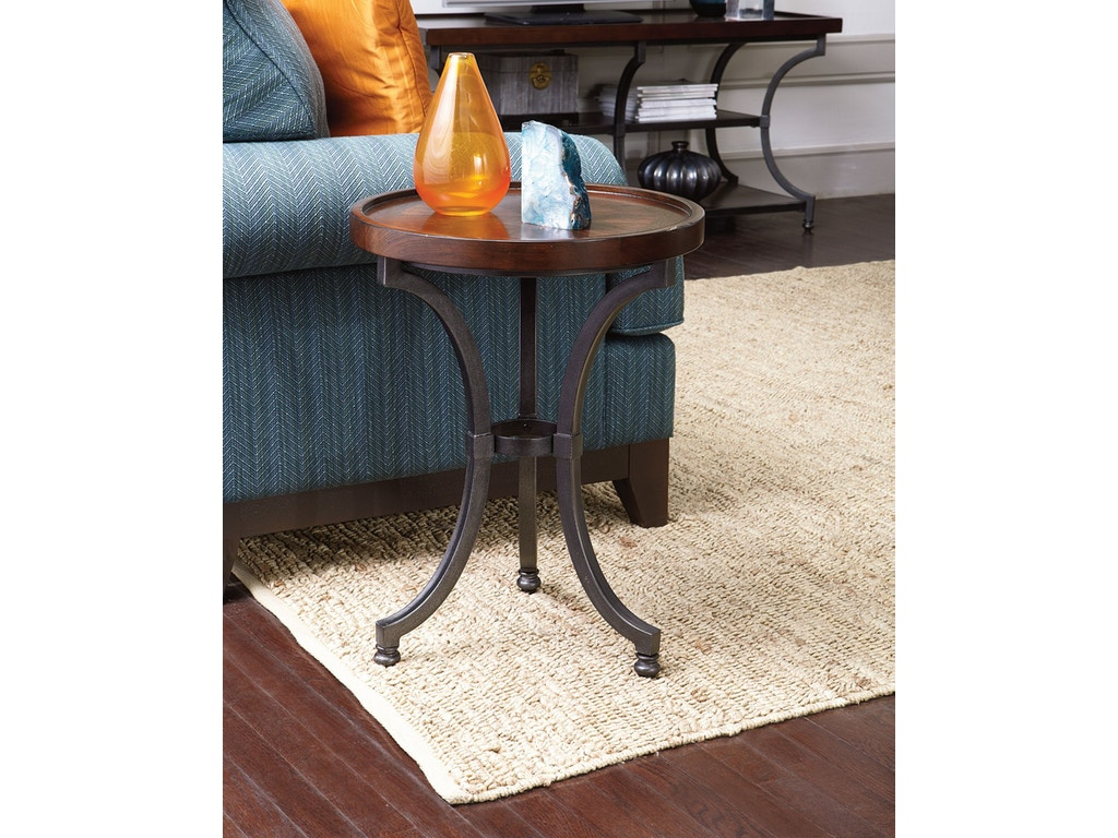 Round Chairside Table Hammary 358 916 Round Chairside Table Kd Interiors Camp Hill