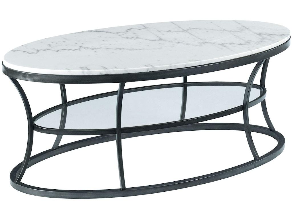Hammary Living Room Oval Cocktail Table 576 912 Seaside