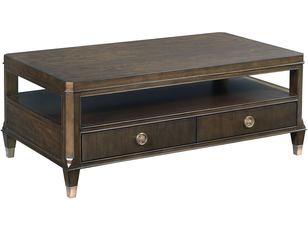 Hammary Living Room Rectangular Cocktail Table 512 910 Matter Brothers Furniture Fort Myers