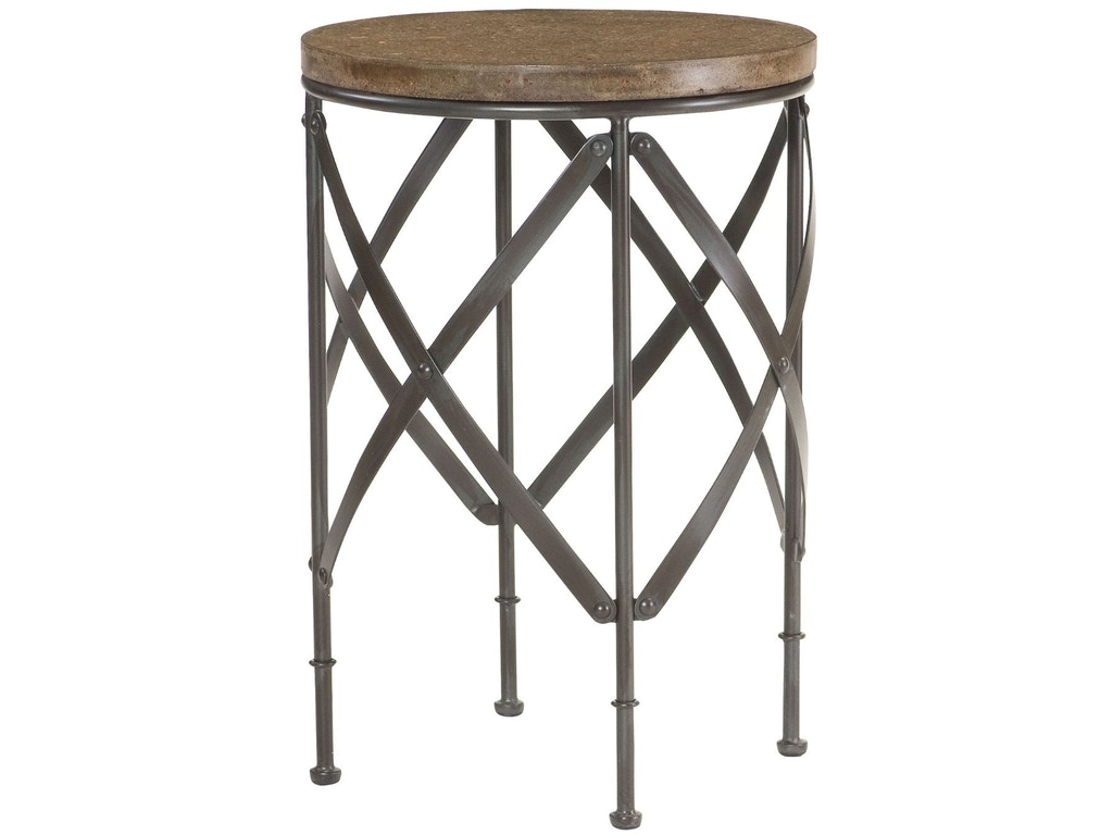 Hammary living room round metal table 090 716 for Living room round table