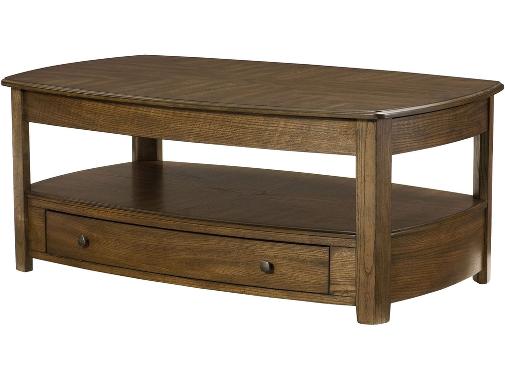 Hammary Living Room Rectangular Lift Top Cocktail Table