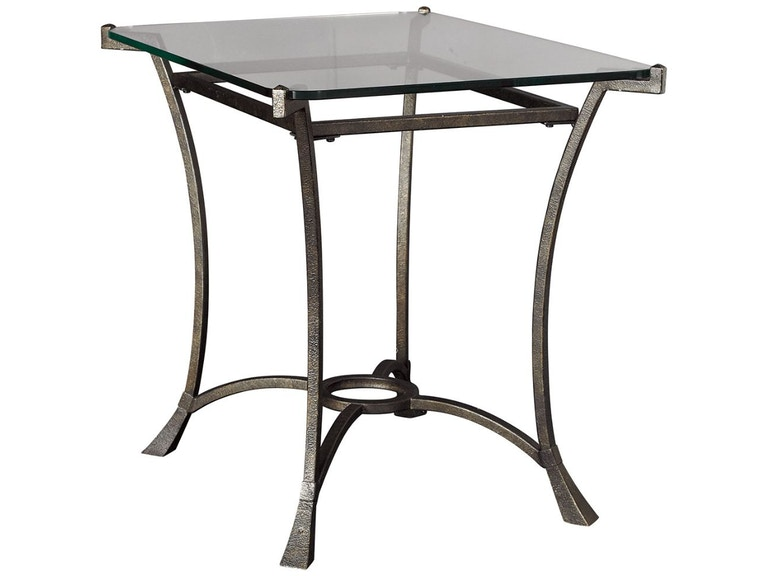 Hammary living room rectangular end table base t30026 for Dining room tables jacksonville nc