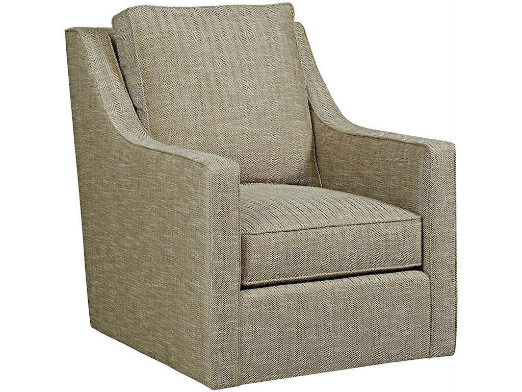 Kincaid Furniture Living Room Bradley Swivel Glider Chair - Swivel glider chairs living room