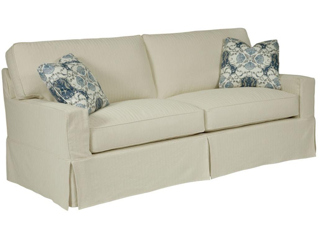 Kincaid Furniture Living Room Sarah Slipcover Sofa 649 96 Ennis Fine Furniture Boise Id