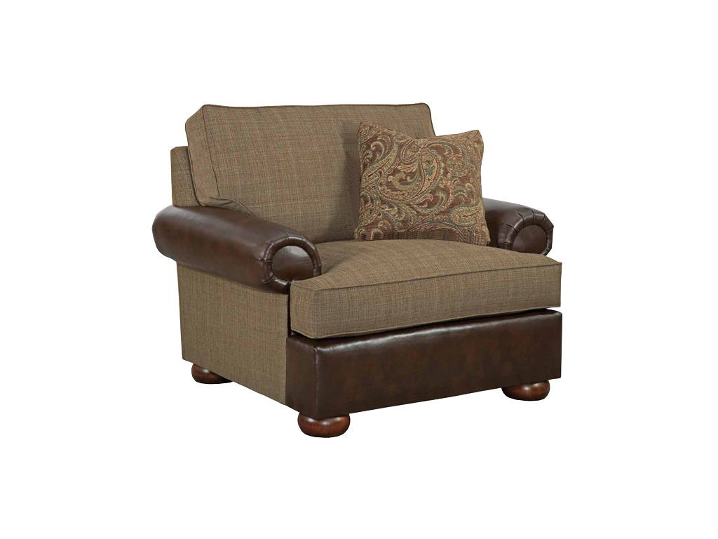 Kincaid Furniture Living Room Lubbock Chair And A Half 658 V1 At Merinos  Home Furnishings