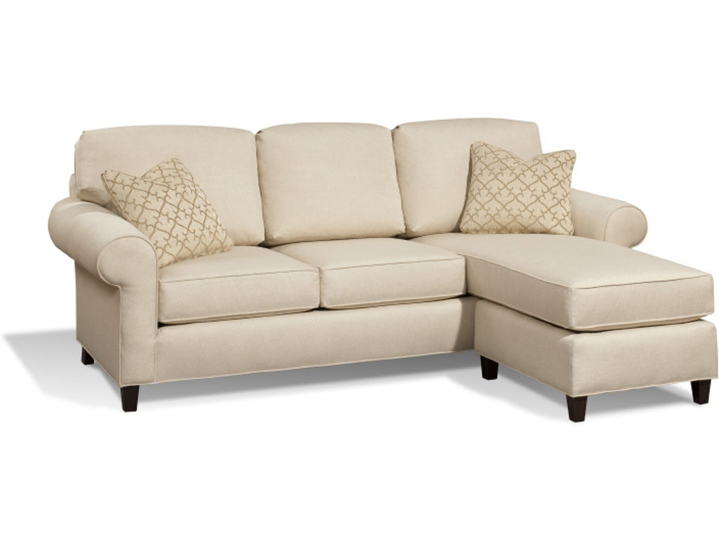 Harden furniture living room tanner sofa chaise 6517 085 for Apartment couch with chaise