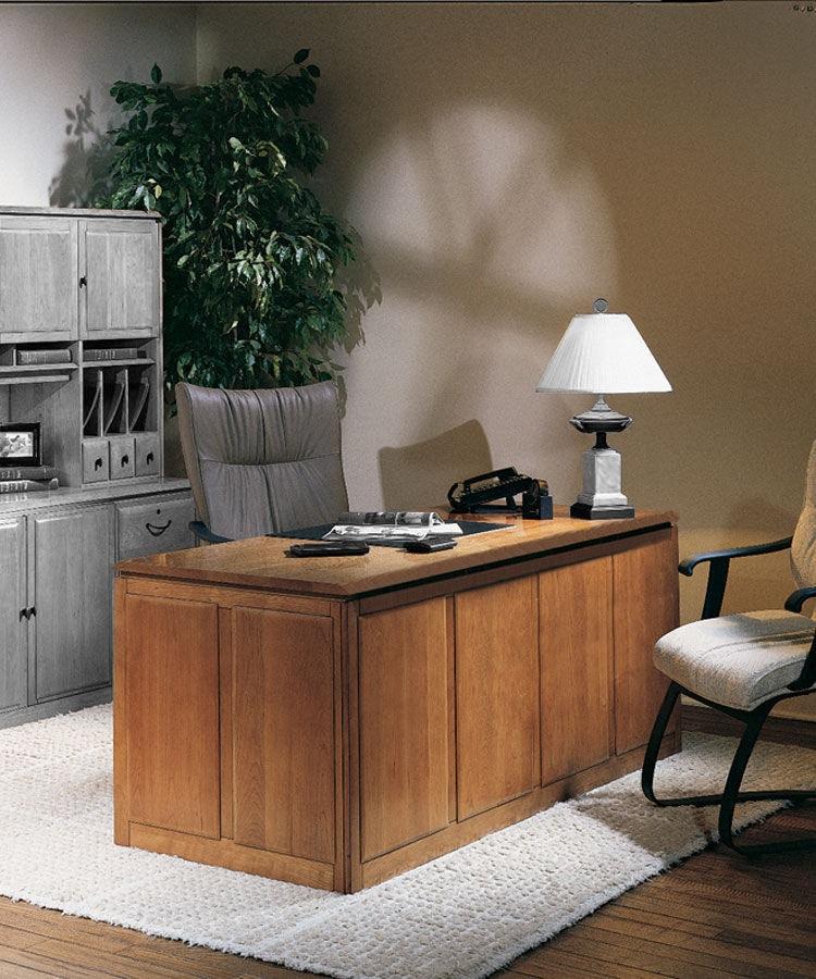 Harden Furniture Home Office Double Pedestal Desk 1750   Issis U0026 Sons    Birmingham, AL