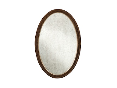 Harden Furniture Oval Looking Glass Mirror 875