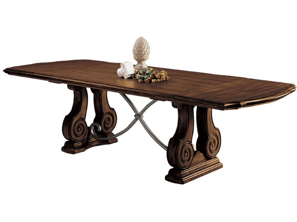Harden furniture dining room trestle dining table 1380 for Table 6 greensboro nc