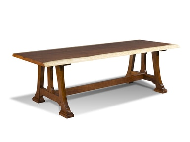 Harden Furniture Live-edge/Trestle Base Dining Table 1679