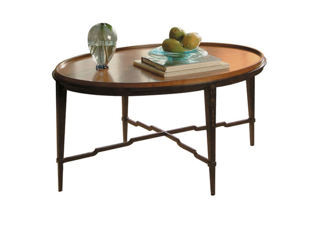 Harden Furniture Living Room Oval Cocktail Table 1467