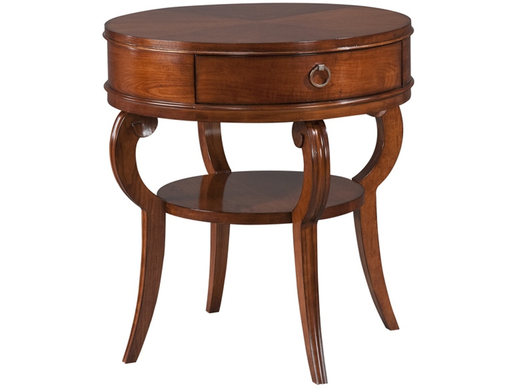 Harden furniture living room round end table 527 pala Circular couches living room furniture