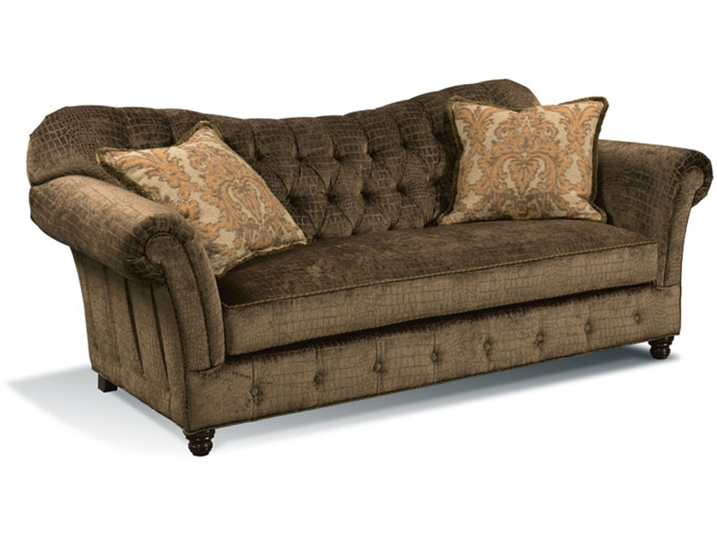 Harden furniture living room perry sofa 9512 088 hickory for Walter e smithe living room