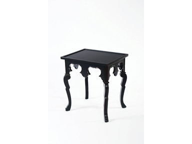 Heather Brooke Black Square Accent Table A8470 208