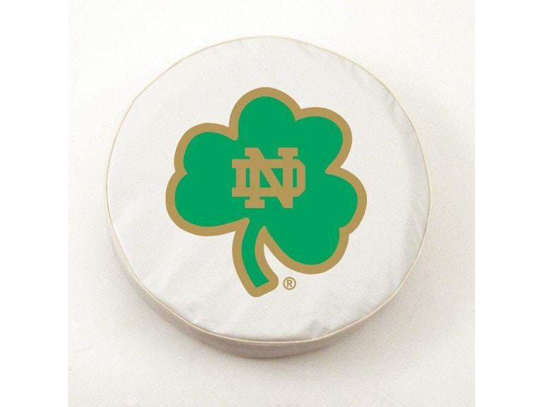 Holland Bar Stool University Of Notre Dame Shamrock Logo Tire Cover Tcnd Shmwt