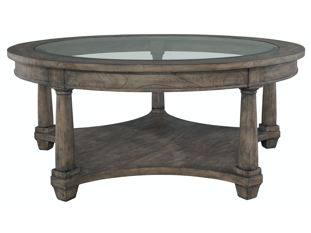 Hekman Living Room Round Coffee Table 23502 Priba Furniture And Interiors Greensboro North