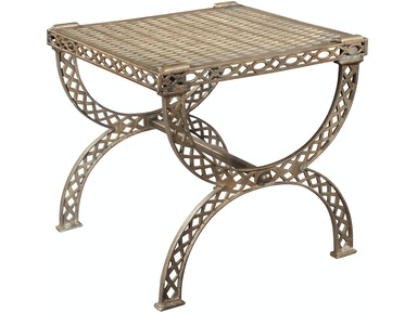 Hekman Grate Top X Bench Side Table 2-7585