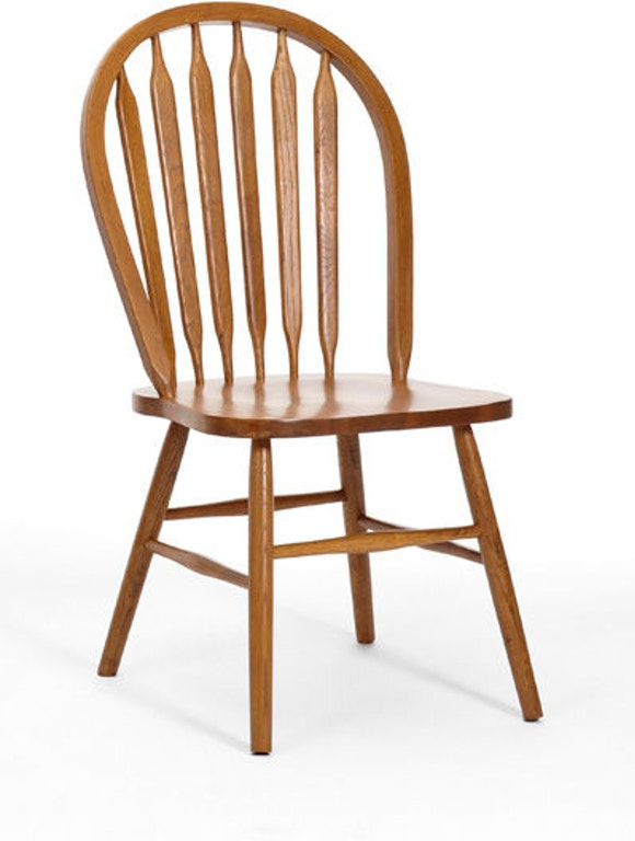 intercon dining room classic oak plain arrow back side chair co ch