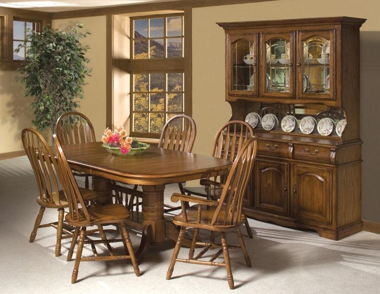Intercon Classic Oak Large China Cabinet CO CA 3050 BRU BSE