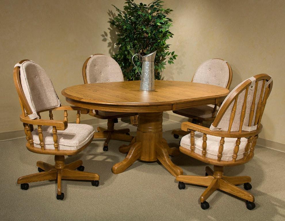 intercon dining room classic oak tilt swivel game chair co ch 2501