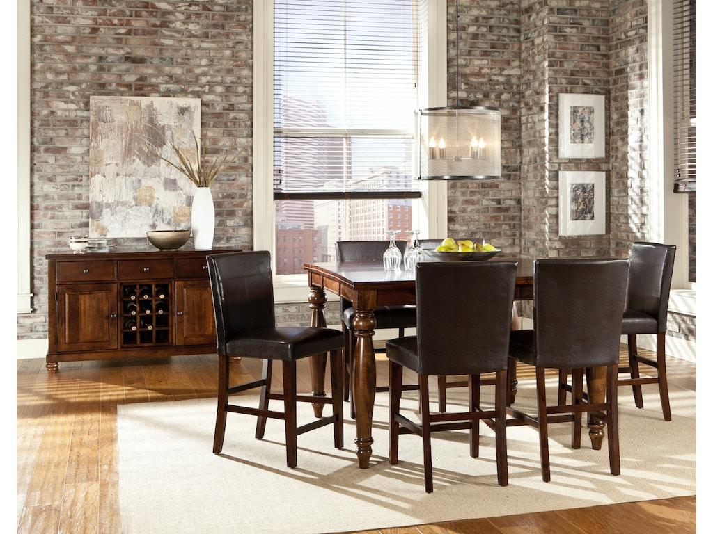 Intercon Dining Room Kingston Gathering Table Kg Ta 5454g Rai C Wholesale Furniture