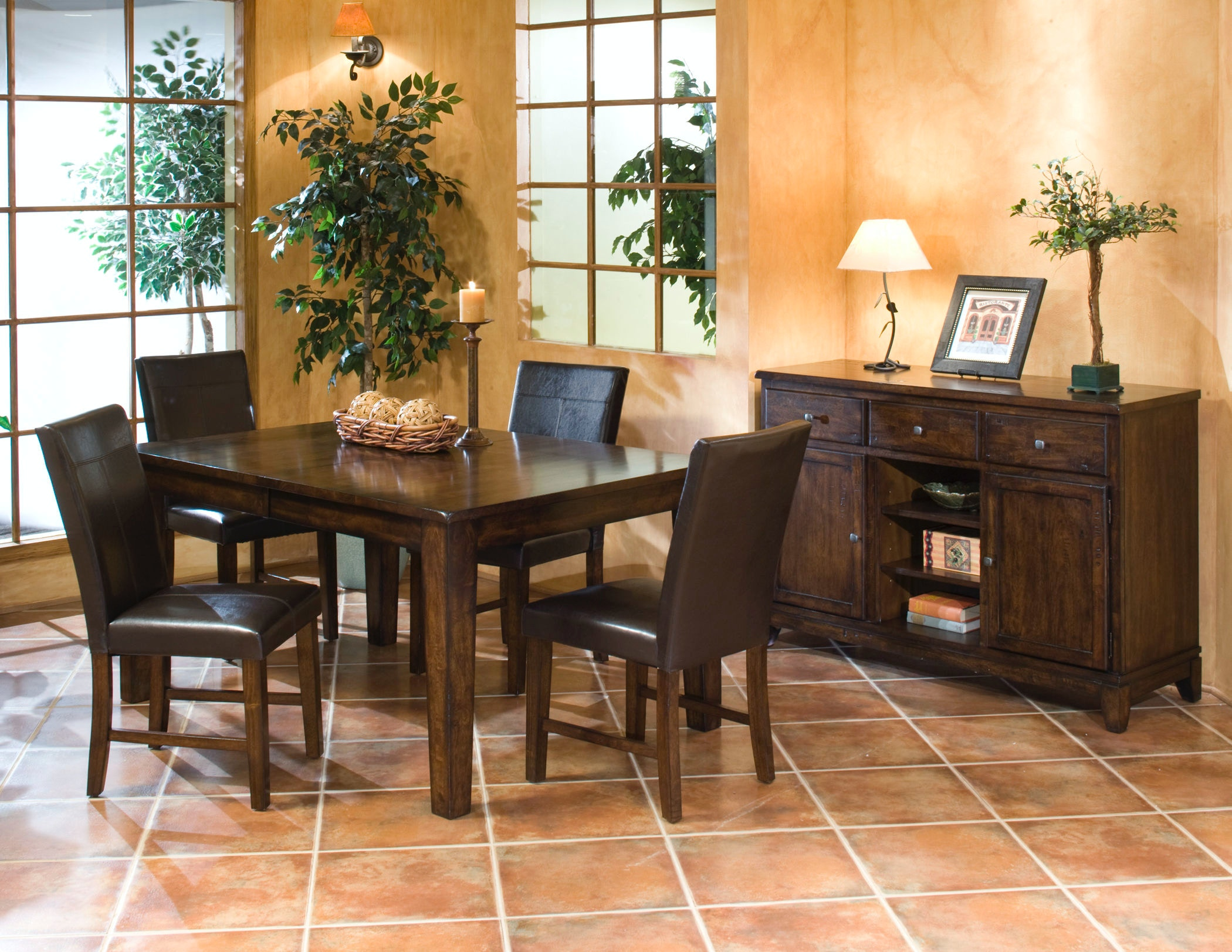 Intercon Dining Room Kona Butterfly Leaf Dining Table KA TA 4278B