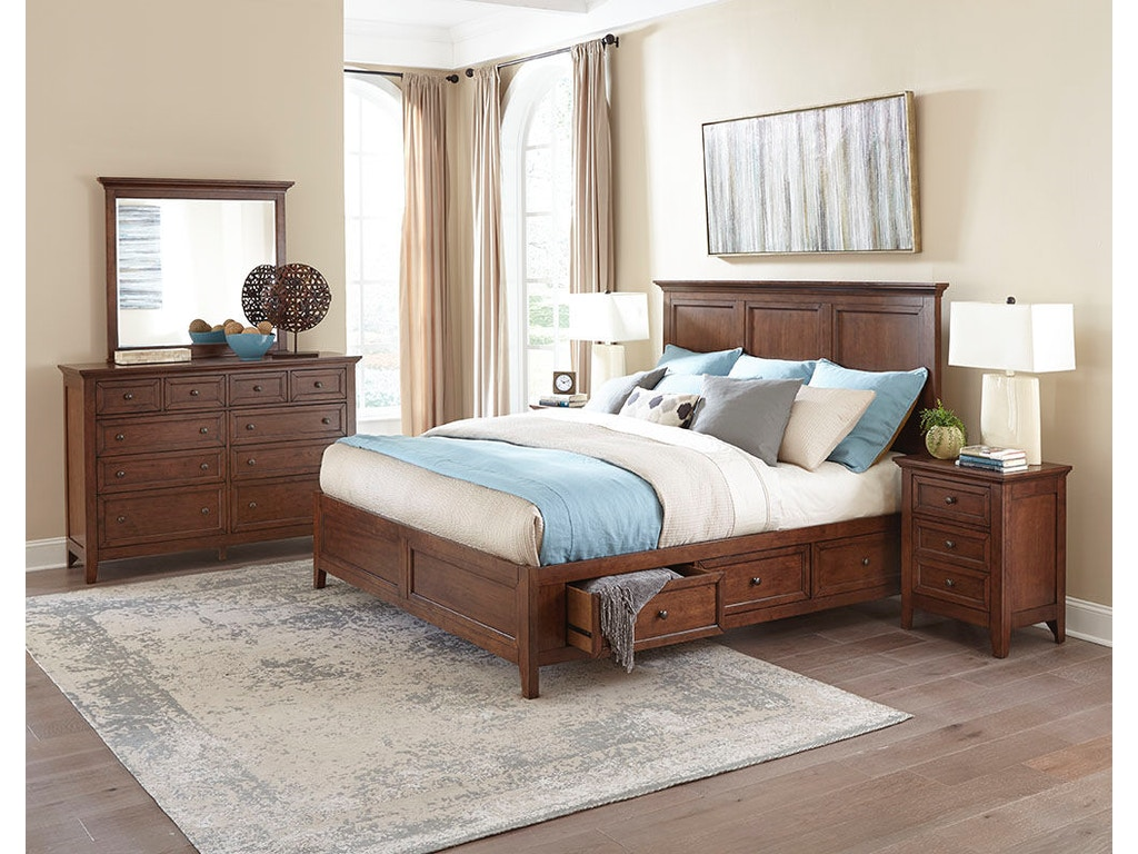 San Mateo Bedroom Furniture Intercon Bedroom San Mateo Landscape Dresser Mirror Sm Br 8891 Tus