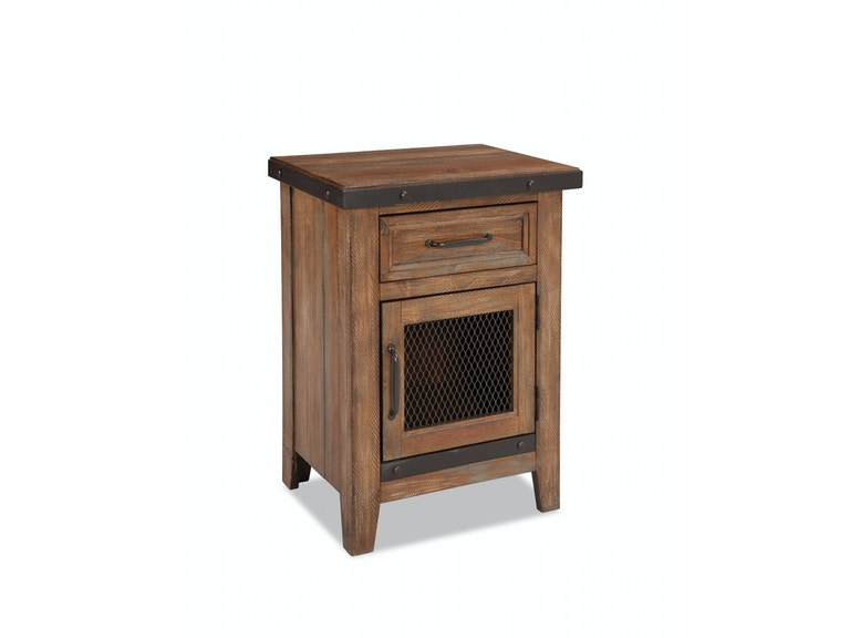 Intercon Taos One Drawer Nightstand TS-BR-3501-CYB-C