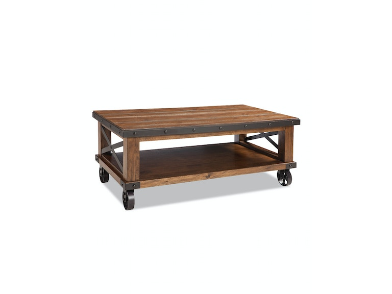 Intercon Taos Coffee Table with Caster TS-TA-5028C-CYB-C
