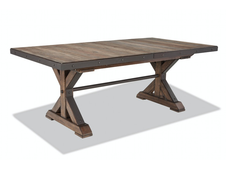 Intercon Taos Trestle Table with Storing Leaf TS-TA-4299-CYB-C