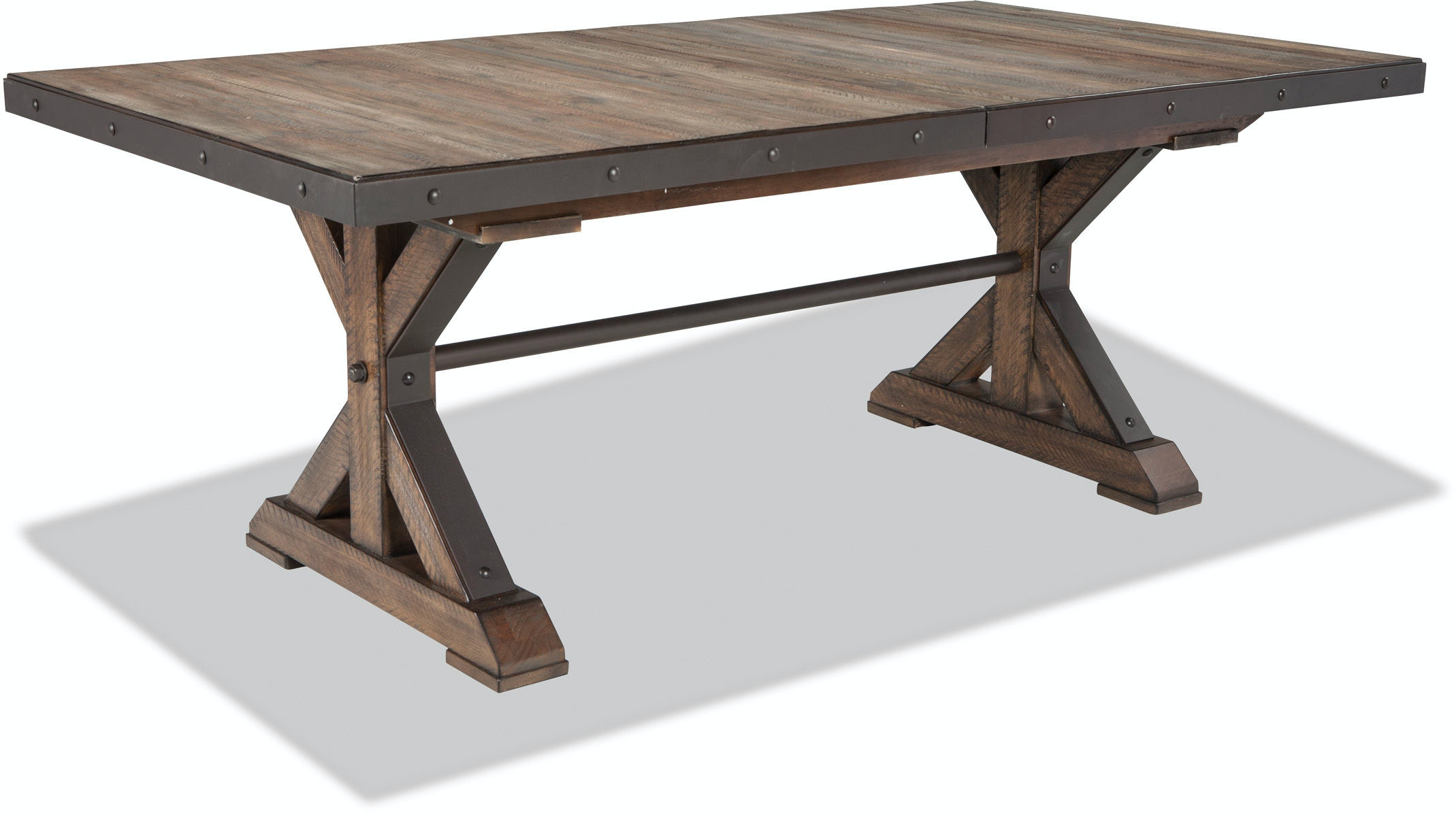 Intercon Dining Room Taos Trestle Table with Storing Leaf  : taostrestletablesilo from www.stacyfurniture.com size 1024 x 768 jpeg 33kB
