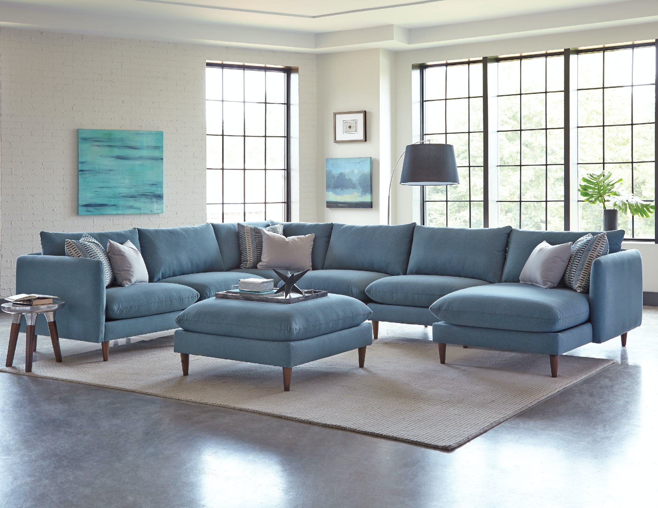 Jonathan Louis International Living Room Melbourne Sectional 304 Sectional