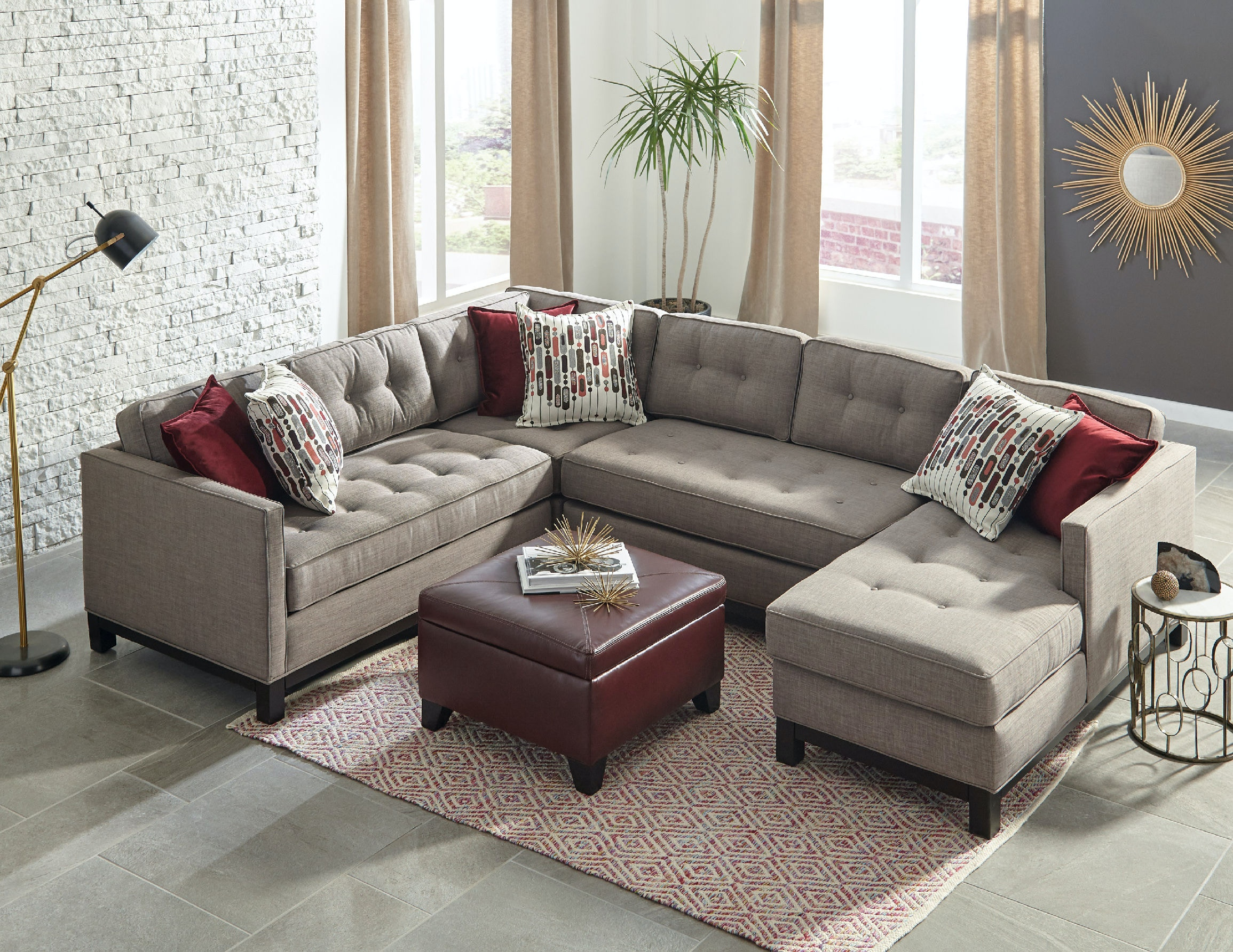 Jonathan Louis International Living Room Goodwyn Sectional 320 Sectional At Klopfenstein  Home Rooms