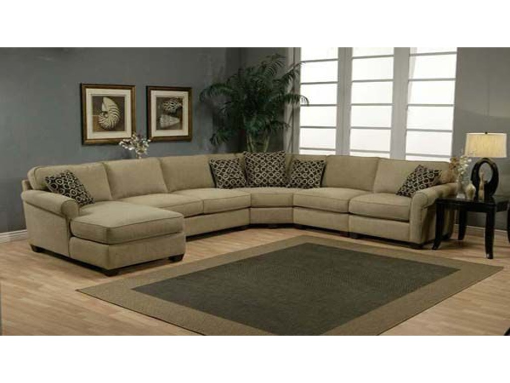 Jonathan Louis International Living Room Benjamin Sectional 489 Sectional Klopfenstein Home