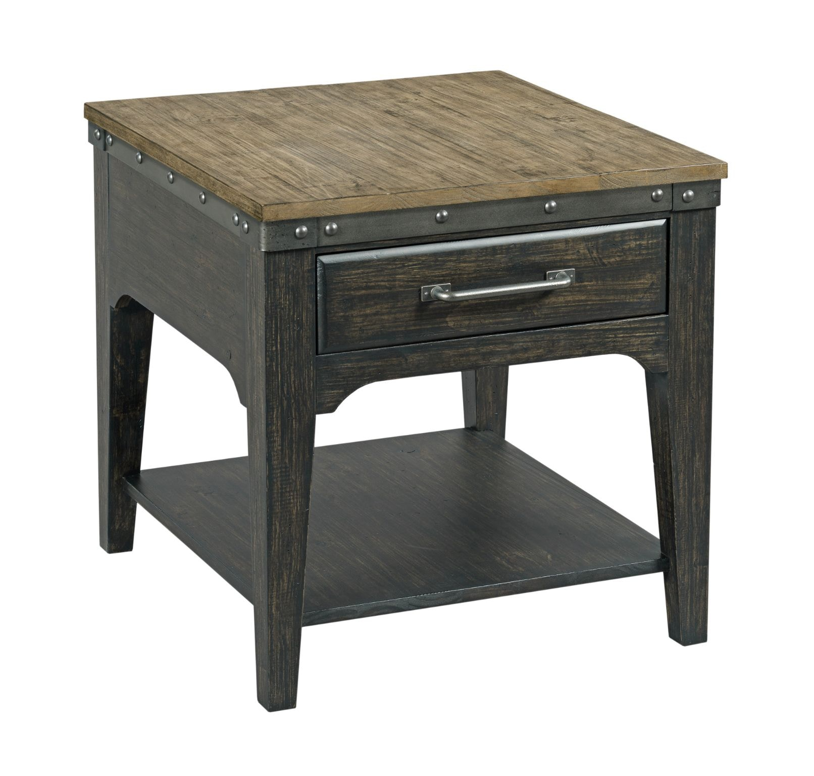 Kincaid Furniture Living Room Artisans Rectangular Drawer End Table  706 915C At New Ulm Furniture Co.