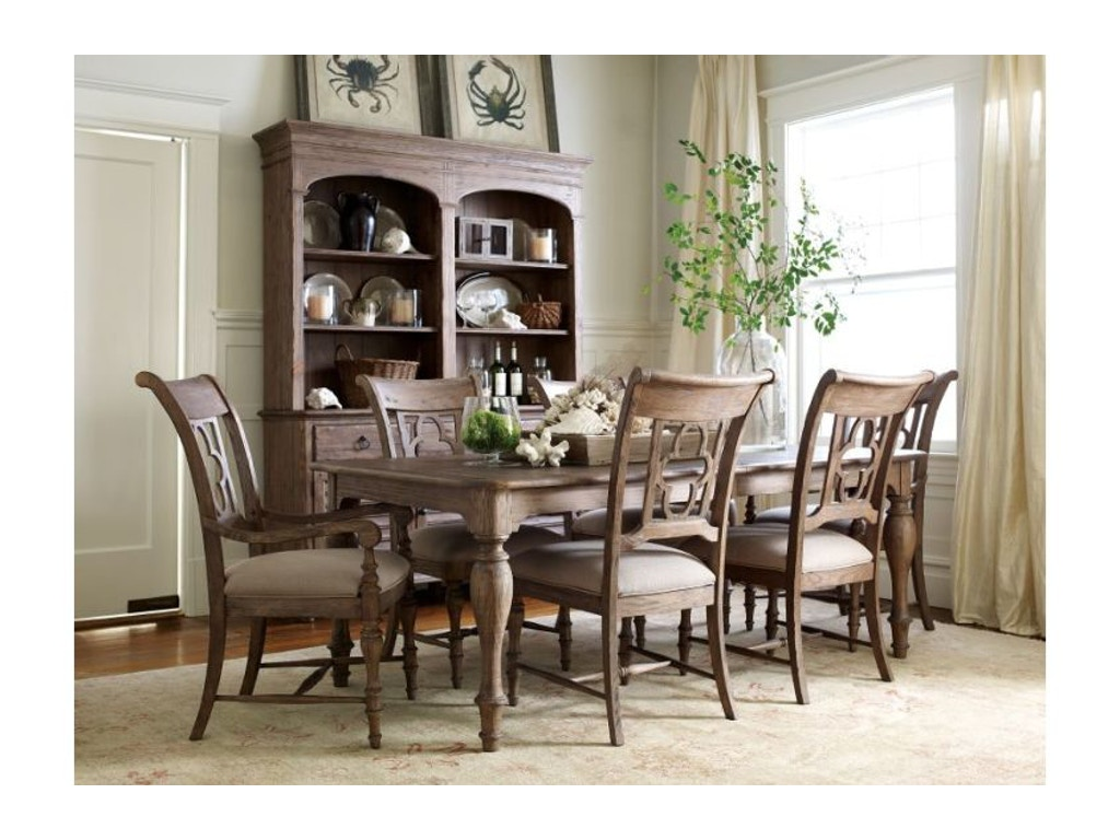 Kincaid furniture dining room hastings open hutch buffet for Dining room tables jacksonville nc