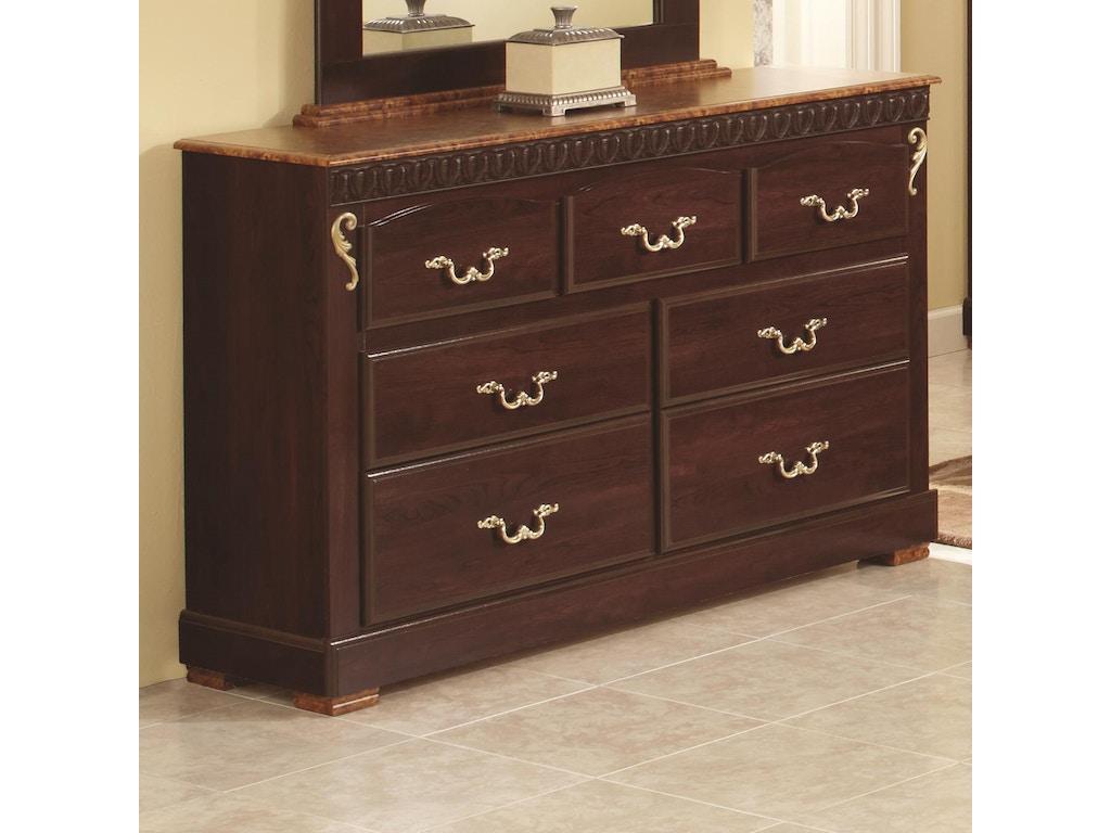 Lang furniture bedroom 7 drawer suite dresser rac 759 for Bedroom suite with dresser