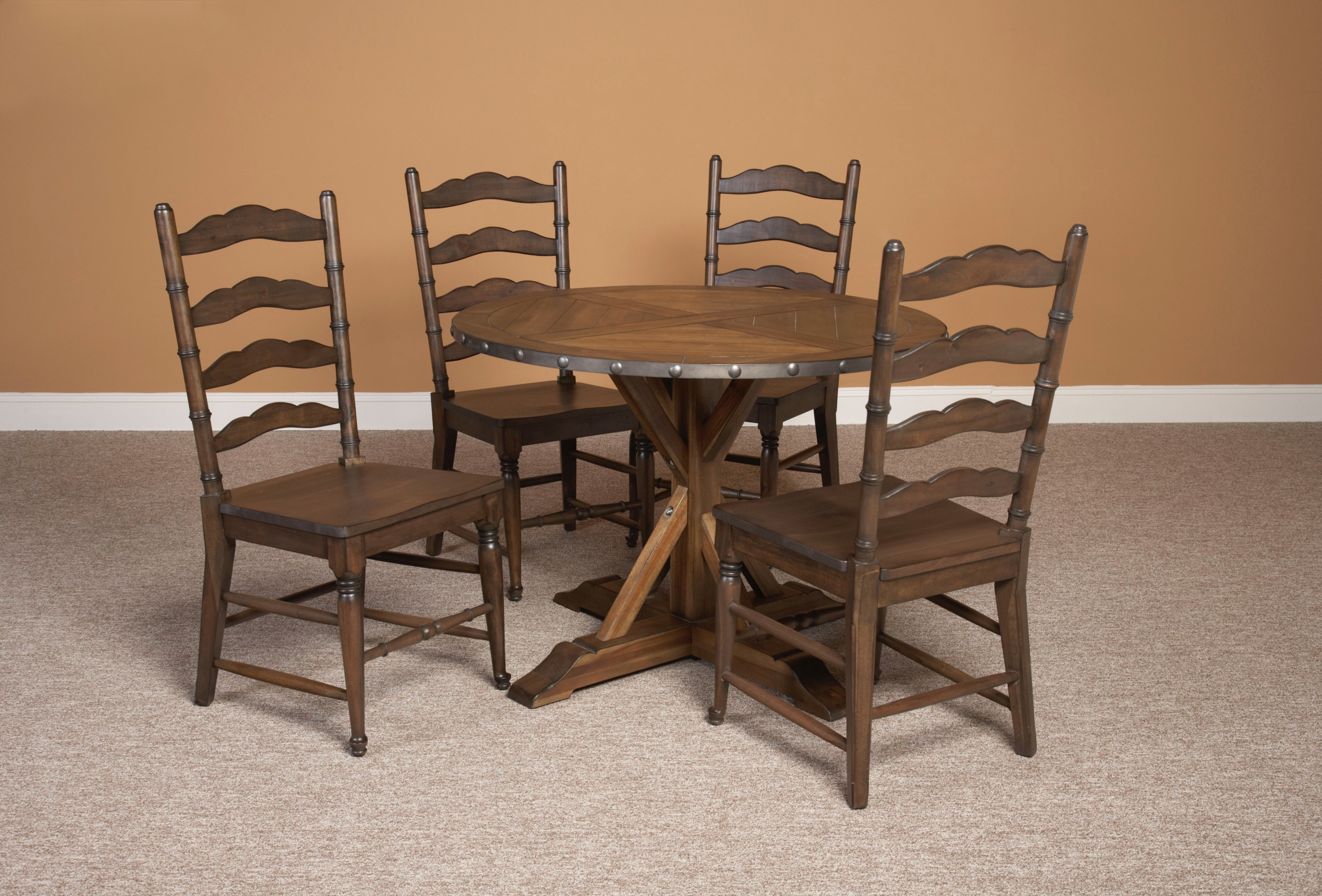 Largo international dining room round table d681 30 b f for Dining table nashville tn