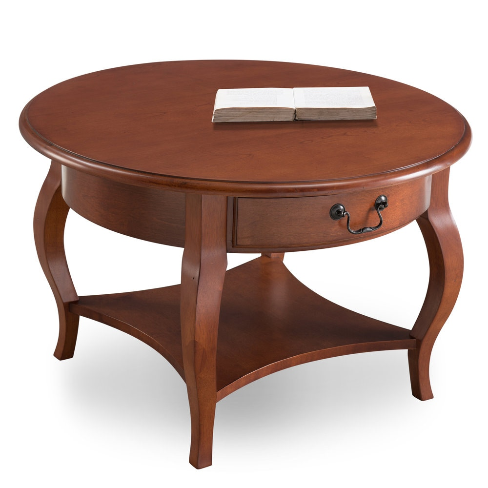 Leick Furniture Round Coffee Table 10034 BR