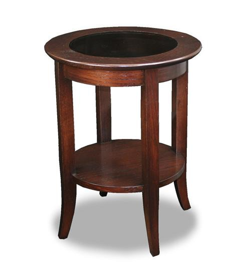 Merveilleux Leick Furniture Chocolate Bronze Round Side Table 10036 ...