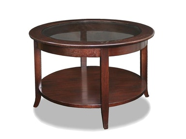 Leick Furniture Chocolate Bronze Round Coffee Table 10037