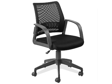 Leick Furniture Black Mesh Office Chair 10066BL