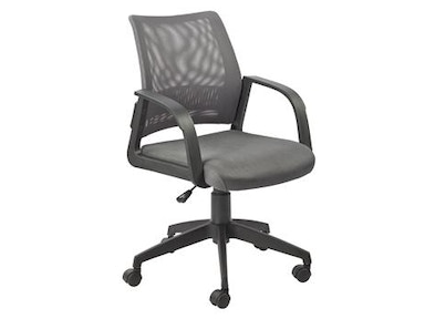Leick Furniture Gray Mesh Back Office Chair 10066GR