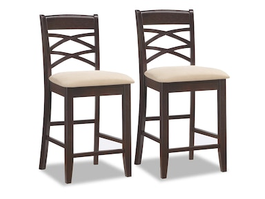 Leick Furniture Double Cross back Counter Height Stool 10084WG/BG