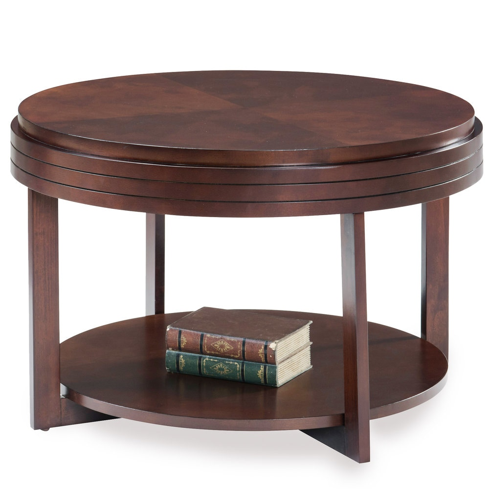 Leick Favorite Finds End Table Leick Furniture Living Room Round Condo/Apartment Coffee Table 10108 ...