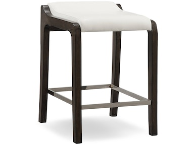 Leick Furniture Counter Height Stool with Ivory Faux Leather Seat 10116BP/IV