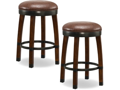 Leick Furniture Sienna Wood Cask Stave Counter Height Stool 10118SN/SB
