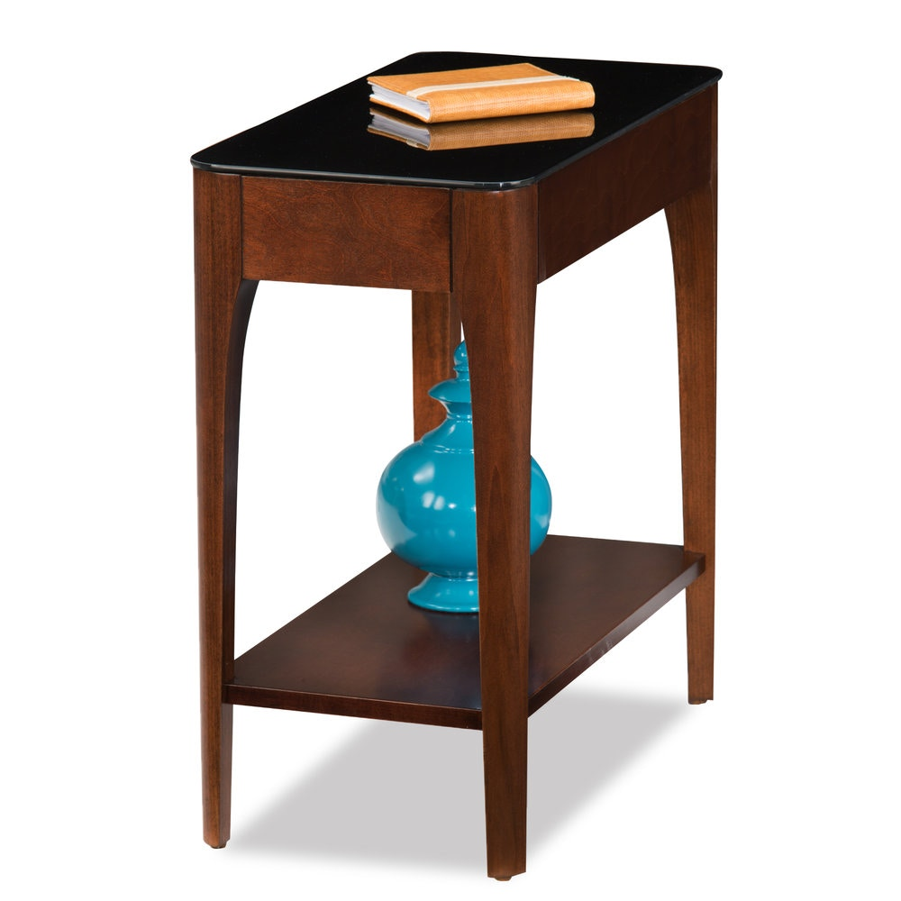 Leick Furniture Obsidian Narrow Chair Side Table 11105