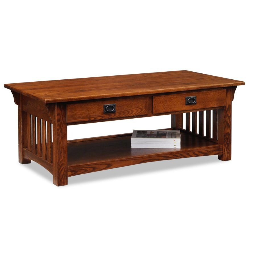 leick furniture mission two drawer coffee table - Leick Furniture