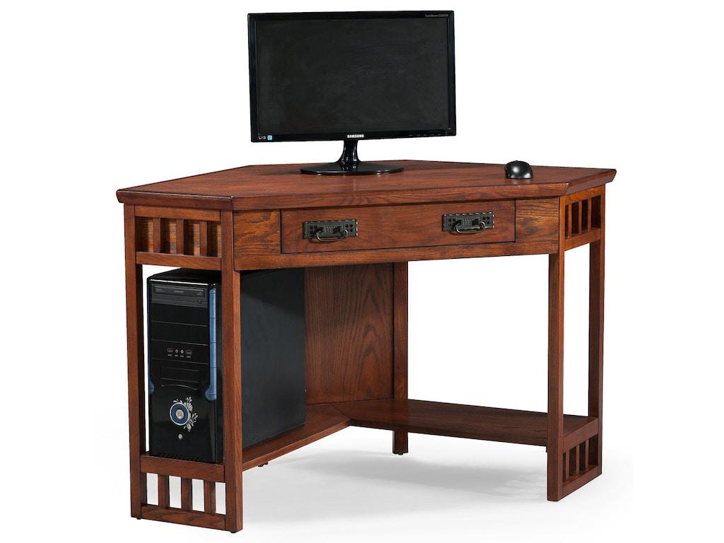 Leick Furniture Home Office Mission Oak Corner Computer